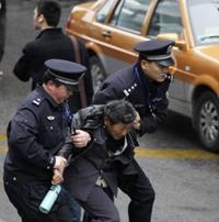 Шанхайская полиция в действии
