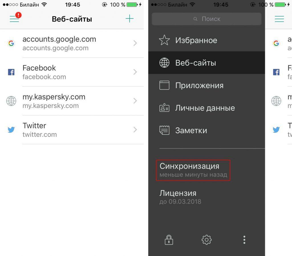 Kaspersky Password Manager – облачное приложение.