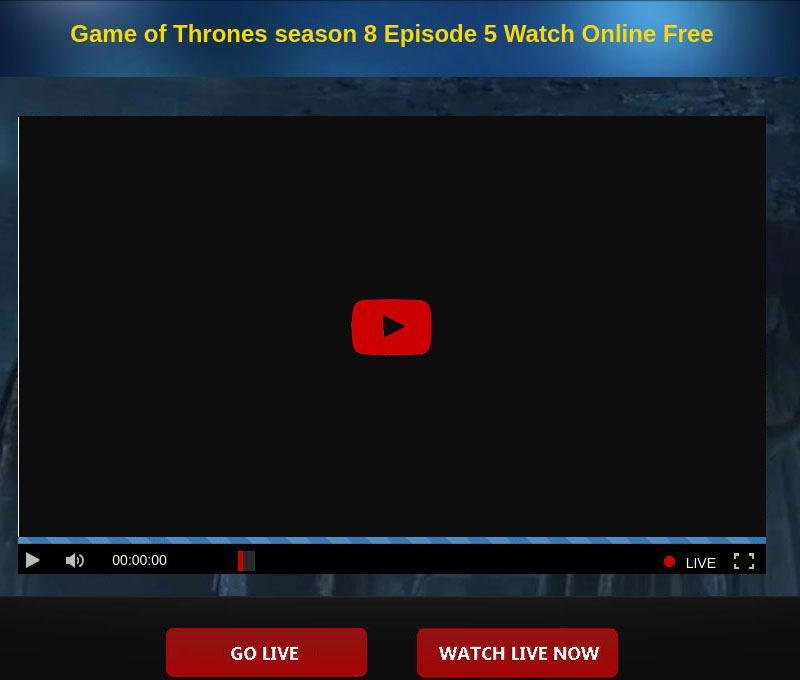 Вебсайт, обещающий бесплатный онлайн-просмотр 8 сезона