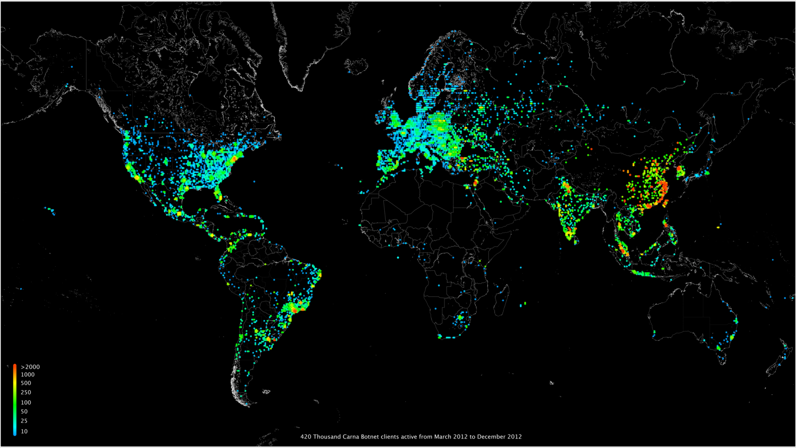 Illegal map of the Internet