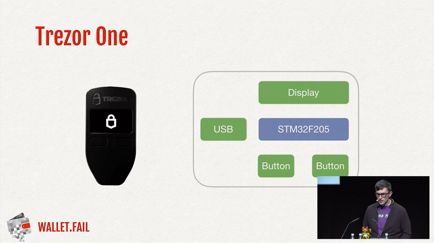 Trezor One security model