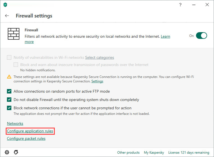 How to set up the firewall in Kaspersky Internet Security so it doesn't interfere with Steam