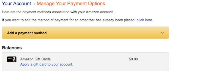 Amazon Security Settings