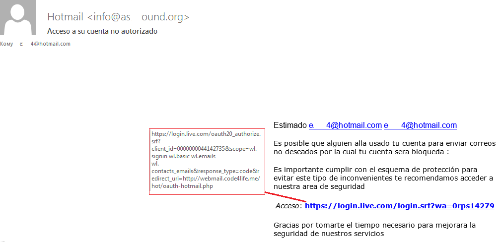 Multi-stage phishing that starts with real links
