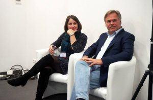 Eugene Kaspersky and Sandra Alzetta talk financial security at Kaspersky Lab and VISA roundtable, Mobile World Congress 2016