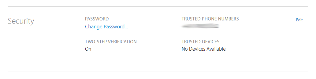 Apple ID account settings