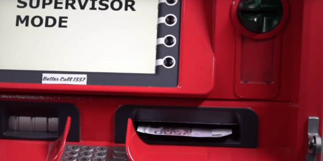 The cash dispenser will obey commands from any devices it is connected to