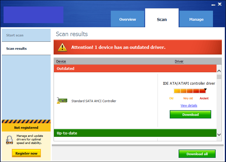This tool rates the driver version installed in the system as