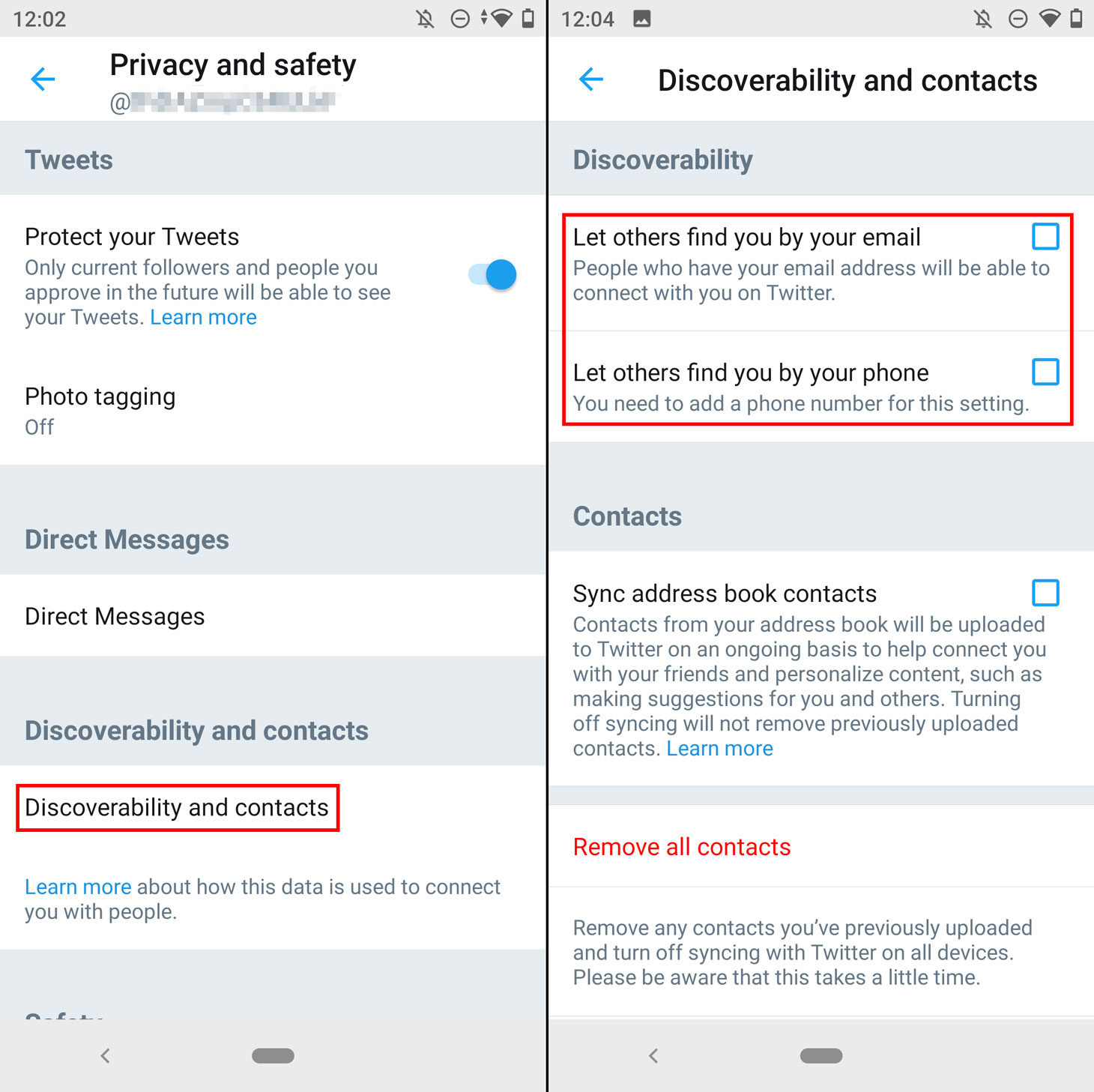 How to keep people from searching for you on Twitter by phone number or e-mail