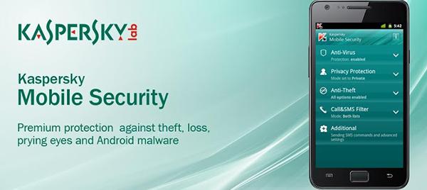آنتی ویروس موبایل kaspersky