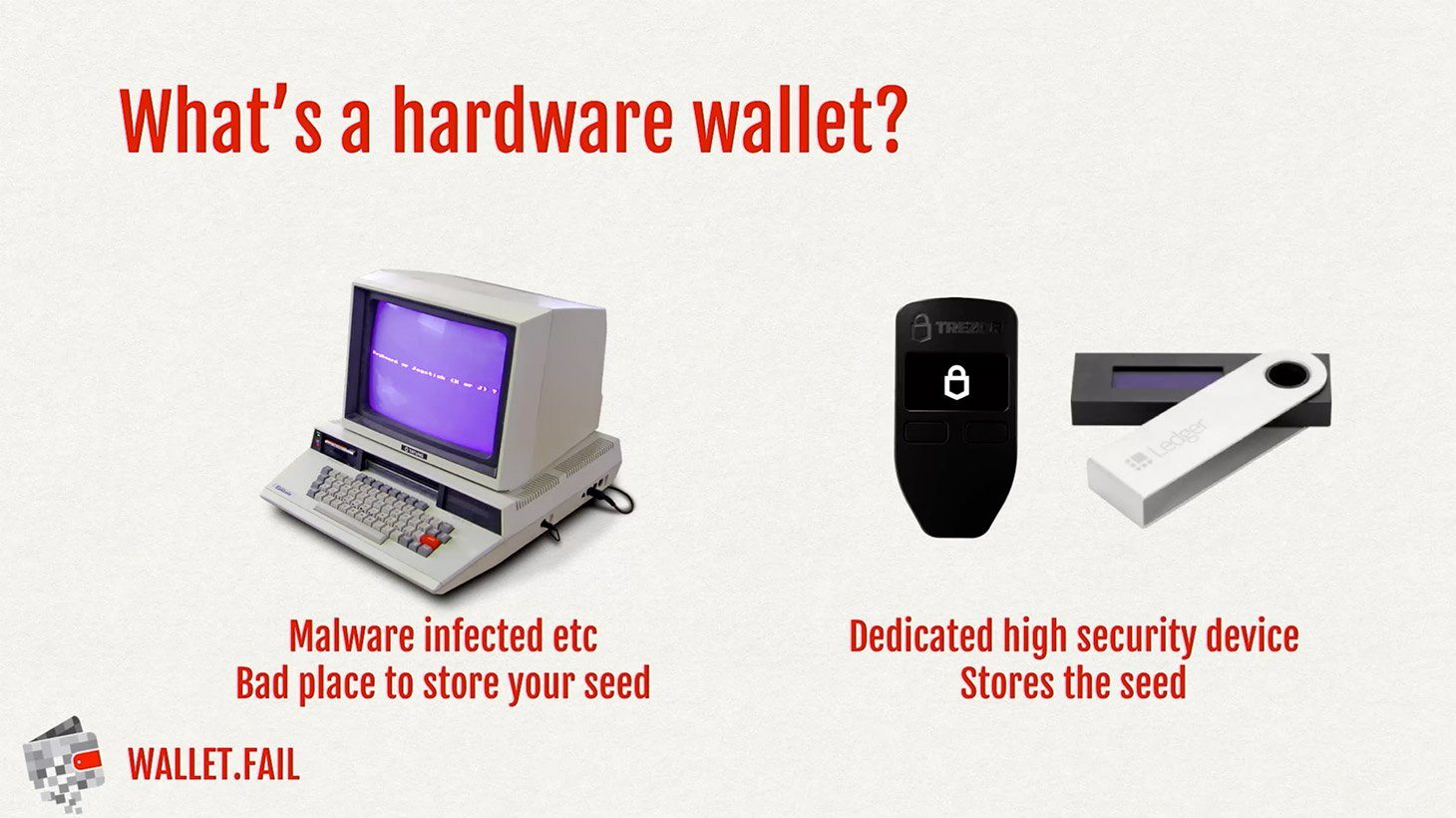 Why would anyone need a hardware cryptocurrency wallet