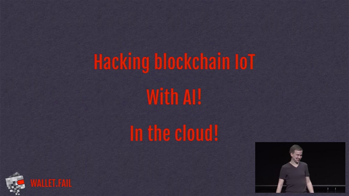 Hacking a blockchain IoT device with AI in the cloud