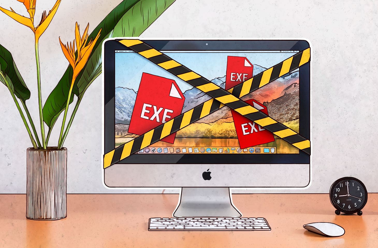 EXE files can pose a risk not only in Windows, but in macOS too