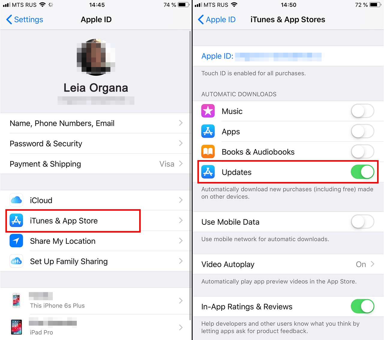 How to set up automatic updates in iOS