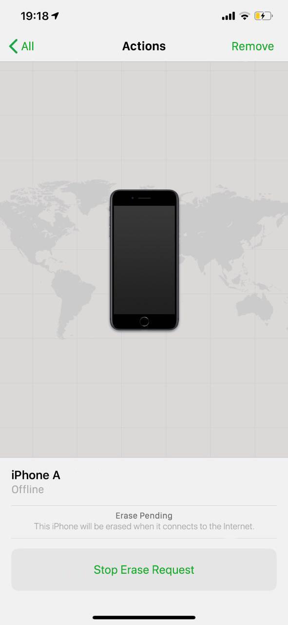 """Stolen iPhone """"Erase pending"""" status in the Find My iPhone app"""