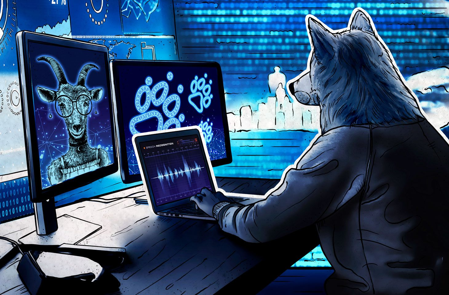 We analyze the fairy tale The Wolf and the Seven Young Goats in terms of cybersecurity