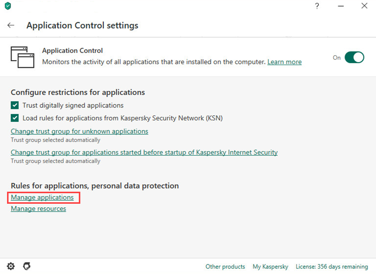 How to set up rules and exclusions for Steam in Kaspersky Internet Security