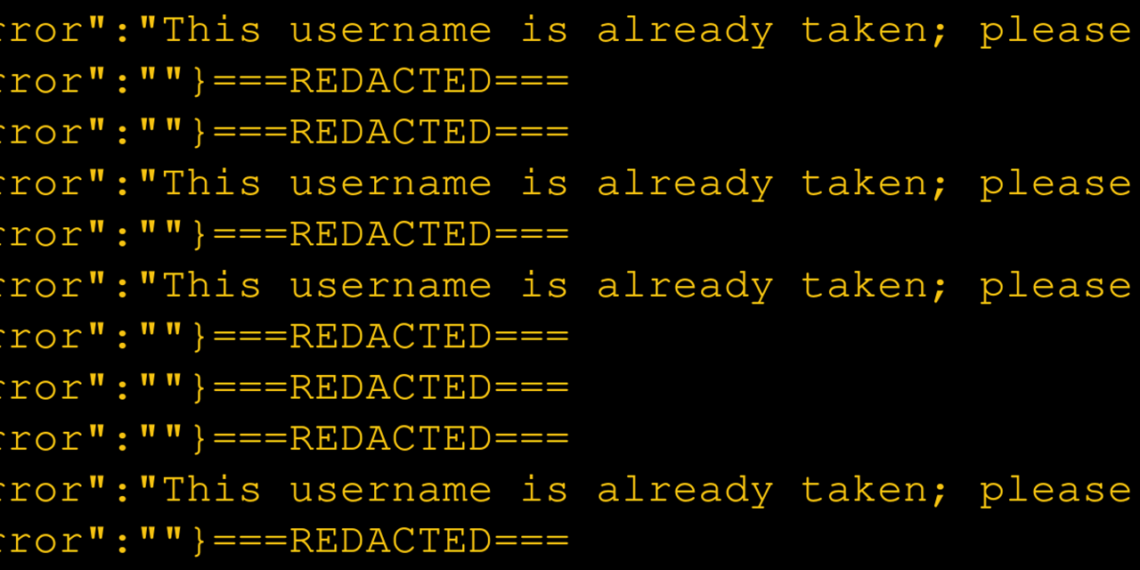 Brute-forcing usernames