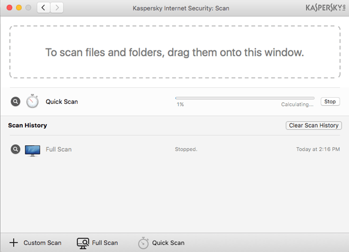 Kaspersky Internet Security for Mac also has a full complement of antivirus features and protects macOS from malware