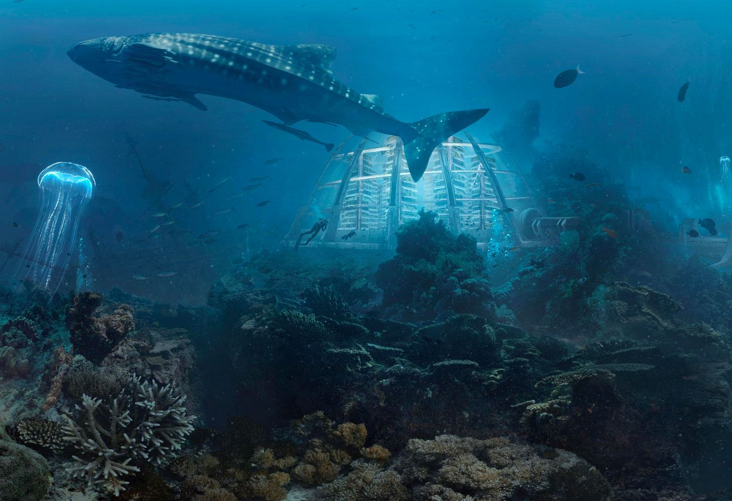 Underwater city on Earth 2050