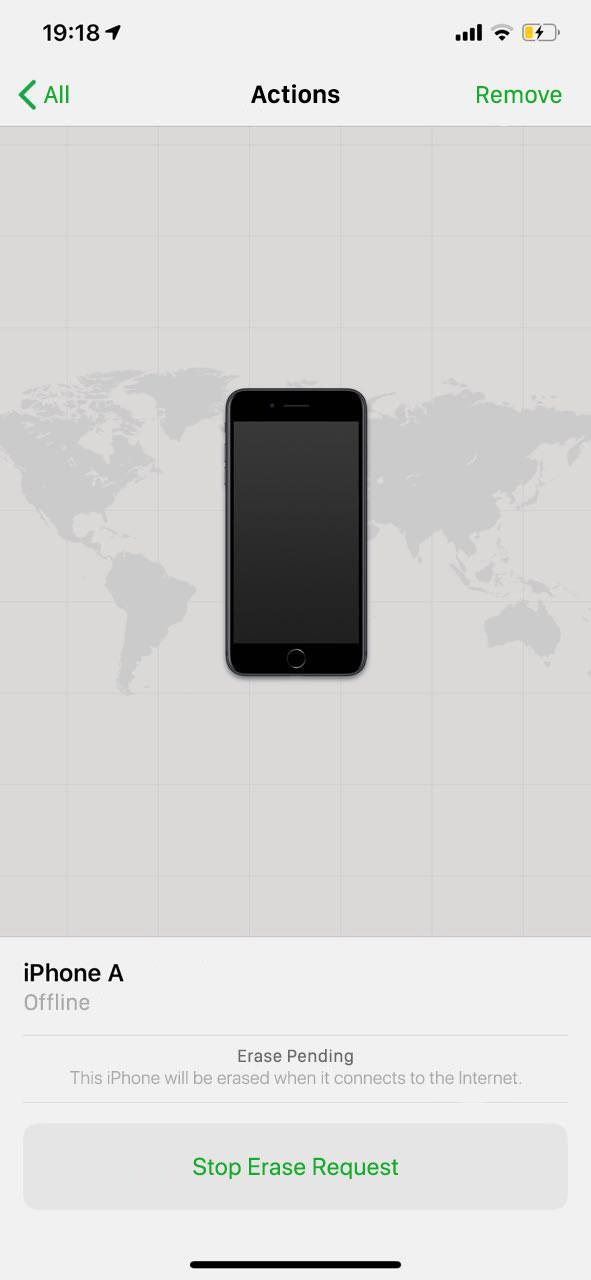 "Stolen iPhone ""Erase pending"" status in the Find My iPhone app"