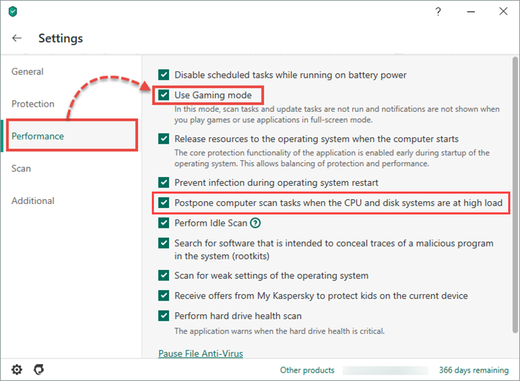 How to increase performance on a computer with Kaspersky Internet Security using Gaming mode