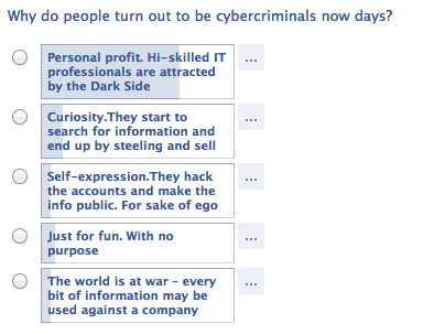 Cybercriminals Poll