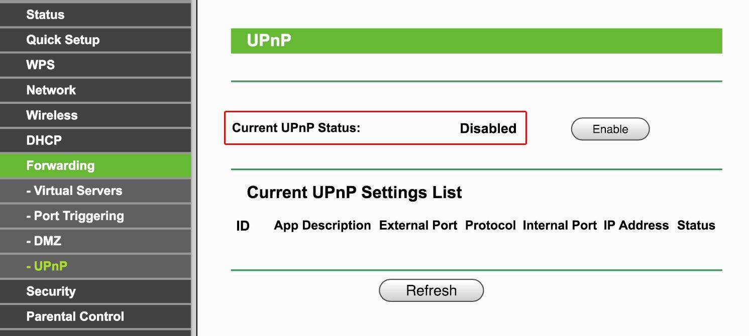 Disabling UPnP