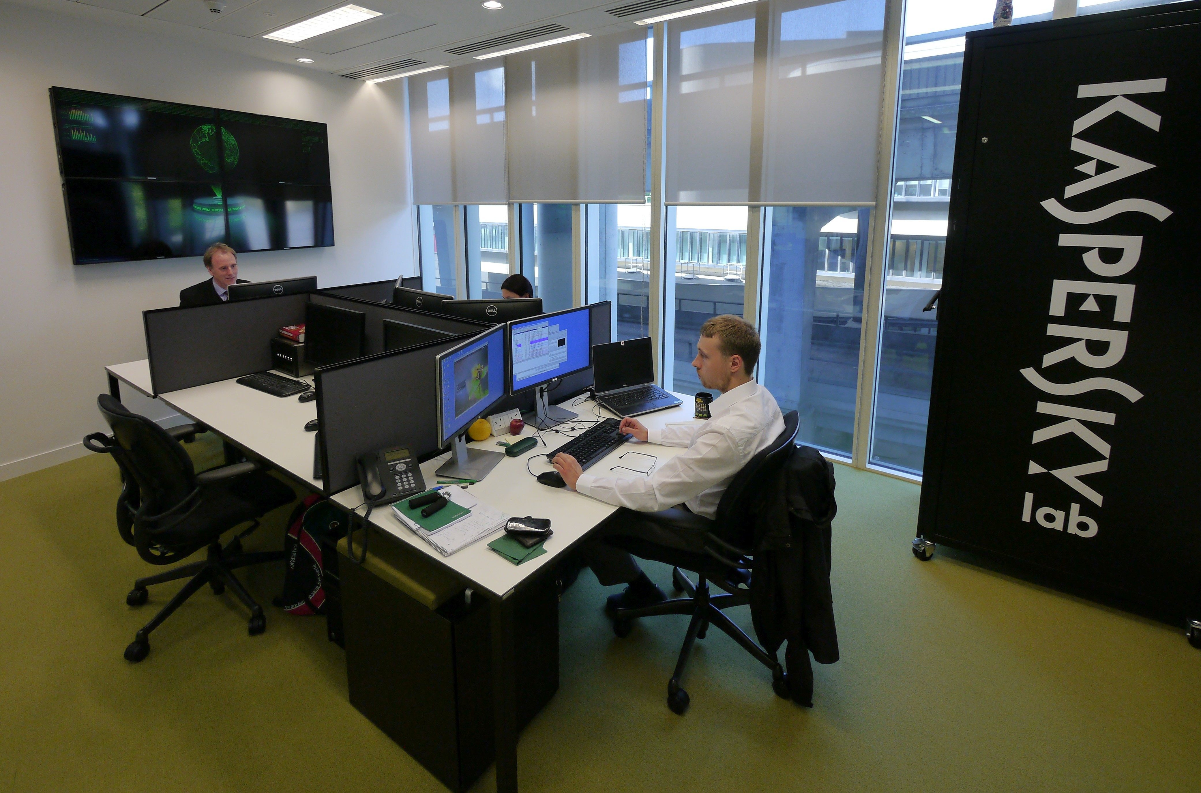 Kaspersky Lab analysts at work