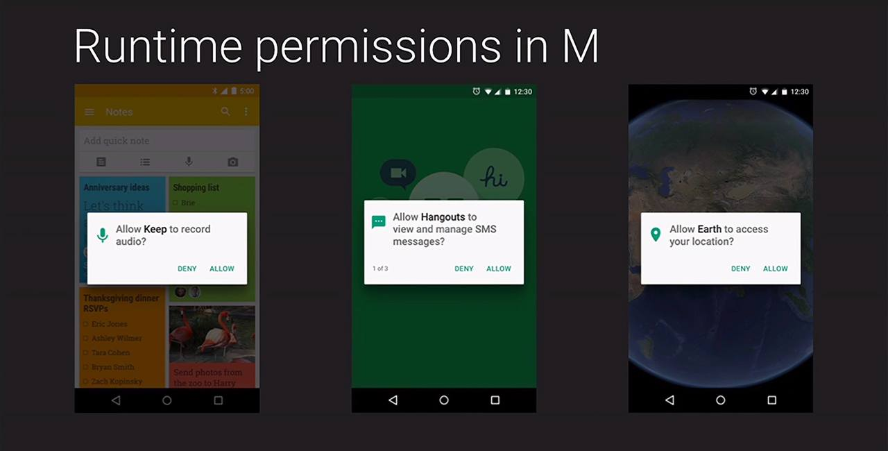 Android M: app permissions runlike