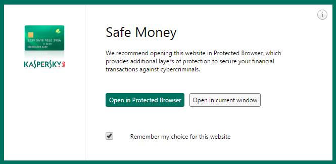 Kaspersky Safe Money