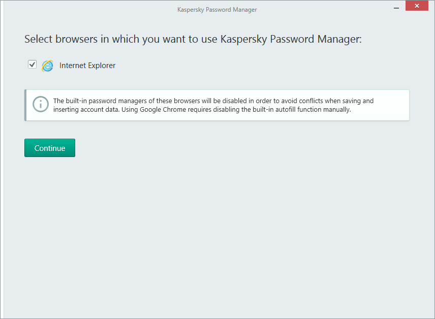 Password Manager in Kaspersky Total Security