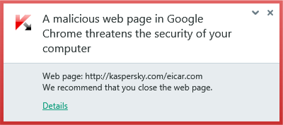 If the antivirus detects a dangerous object on a website that you have visited, it's probably best to navigate away from that website.