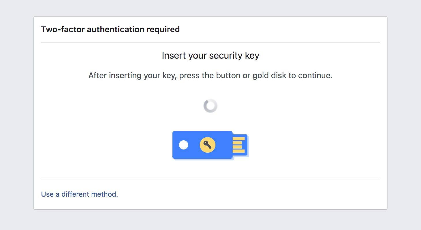 How to authenticate in Facebook using YubiKey