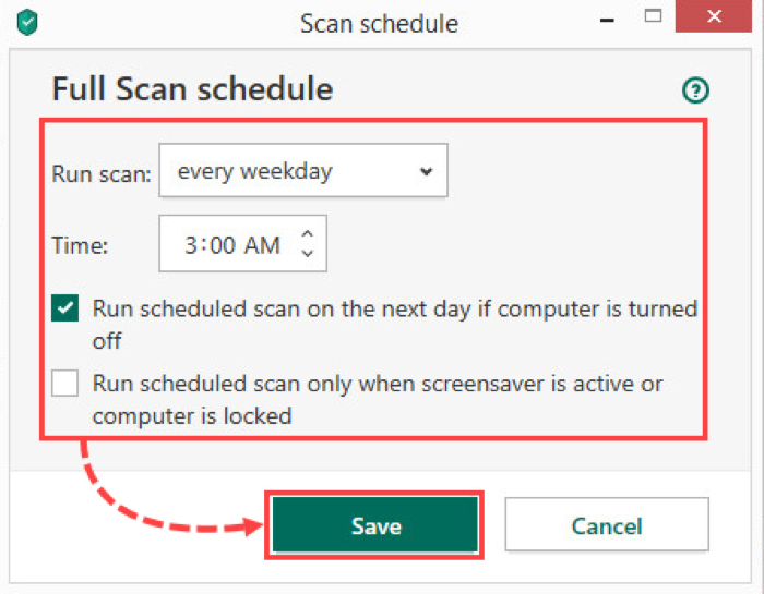 Set up the antivirus scan schedule so that it doesn't interrupt your gaming sessions