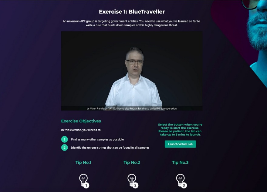 Cybersecurity online training exercise: BlueTraveller