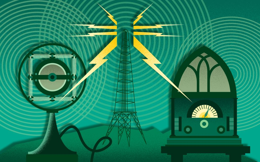 history of electricity radio