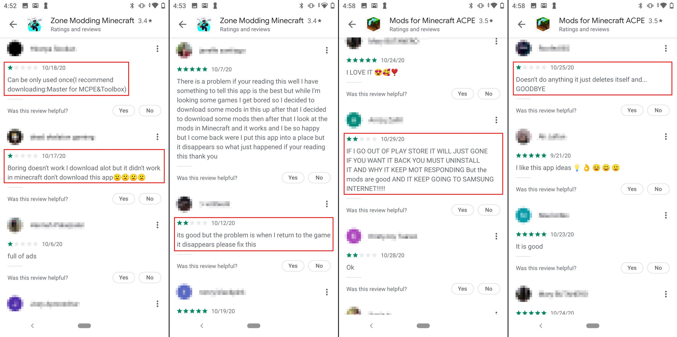 Users complain that the app doesn't work and seemingly deletes itself