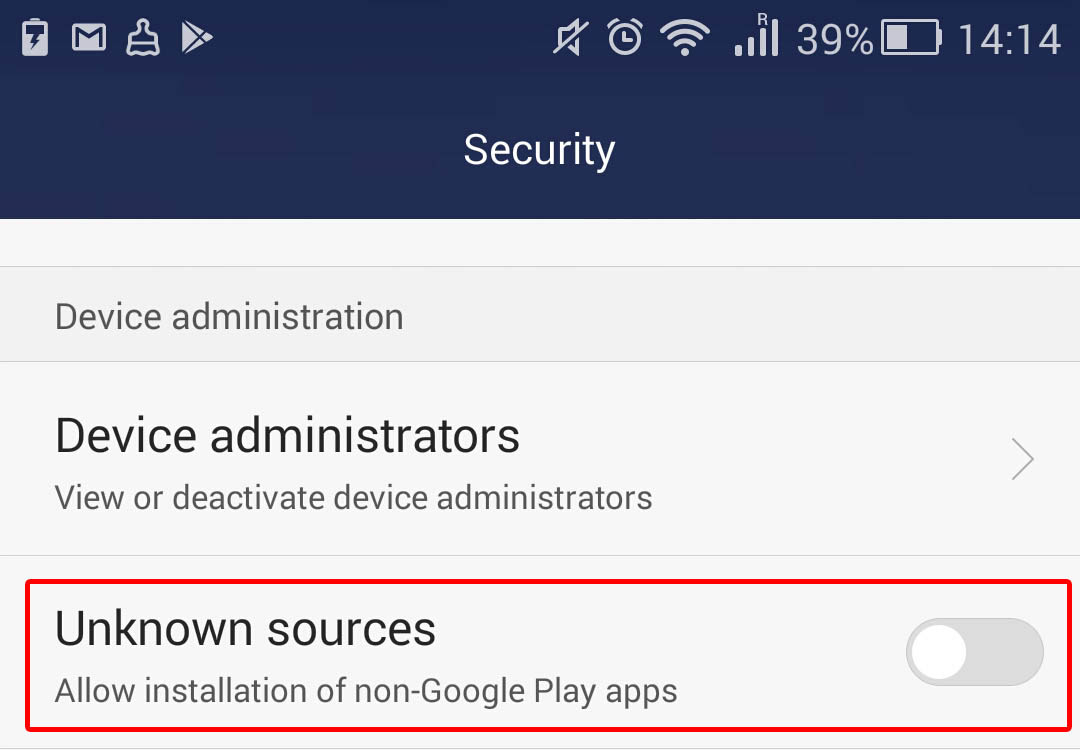 How to disable installation of apps from unknown sources in Android 6 and 7