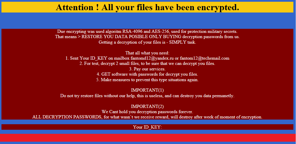 Fantom ransomware poses as Windows Update
