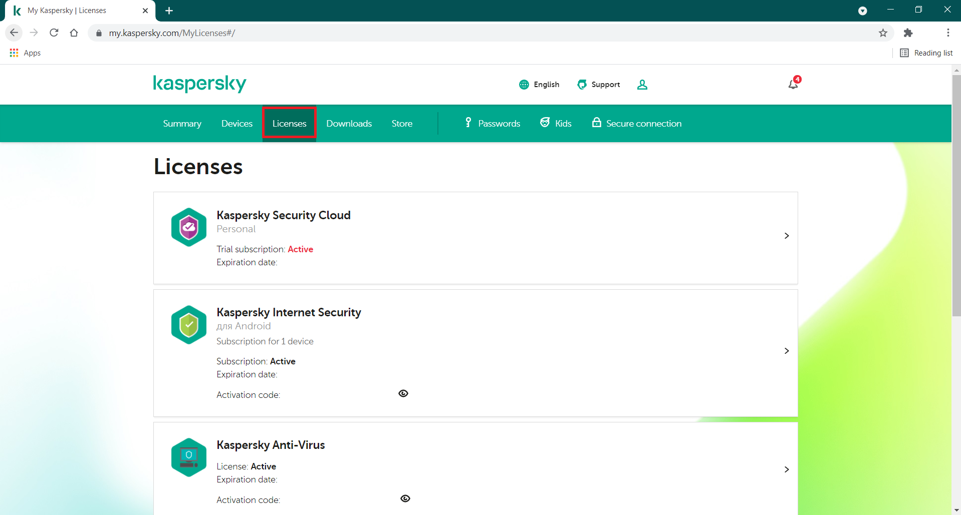 How to use My Kaspersky to send a license to a device that is already connected to your account