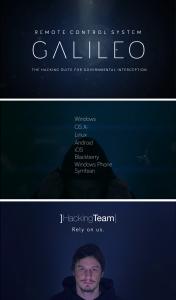 Galileo está patrocinado por Hacker Team - otro desarrollador legal de herramientas para el ciberespionaje