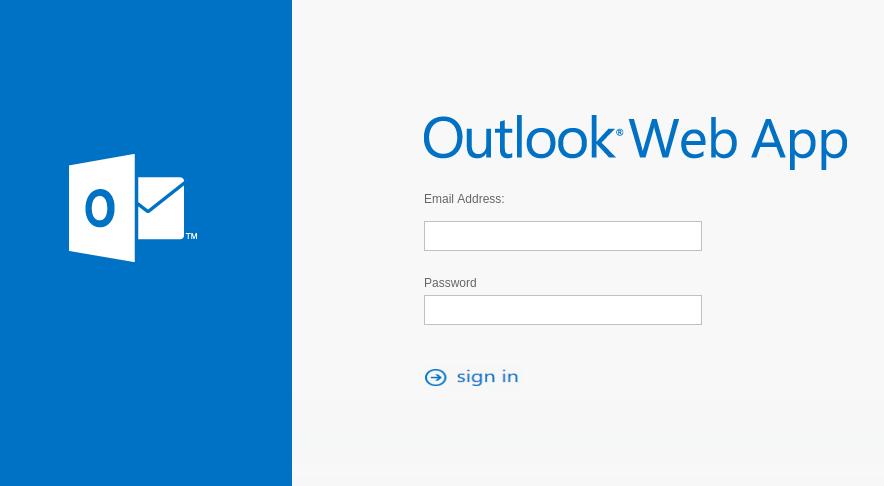 Ejemplo de la página de inicio de sesión de un servicio de correo web dentro de un sitio web de suplantación de identidad (phishing).