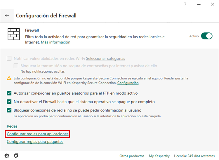 Cómo configurar el firewall en Kaspersky Internet Security para que no interfiera con la operativa de Steam