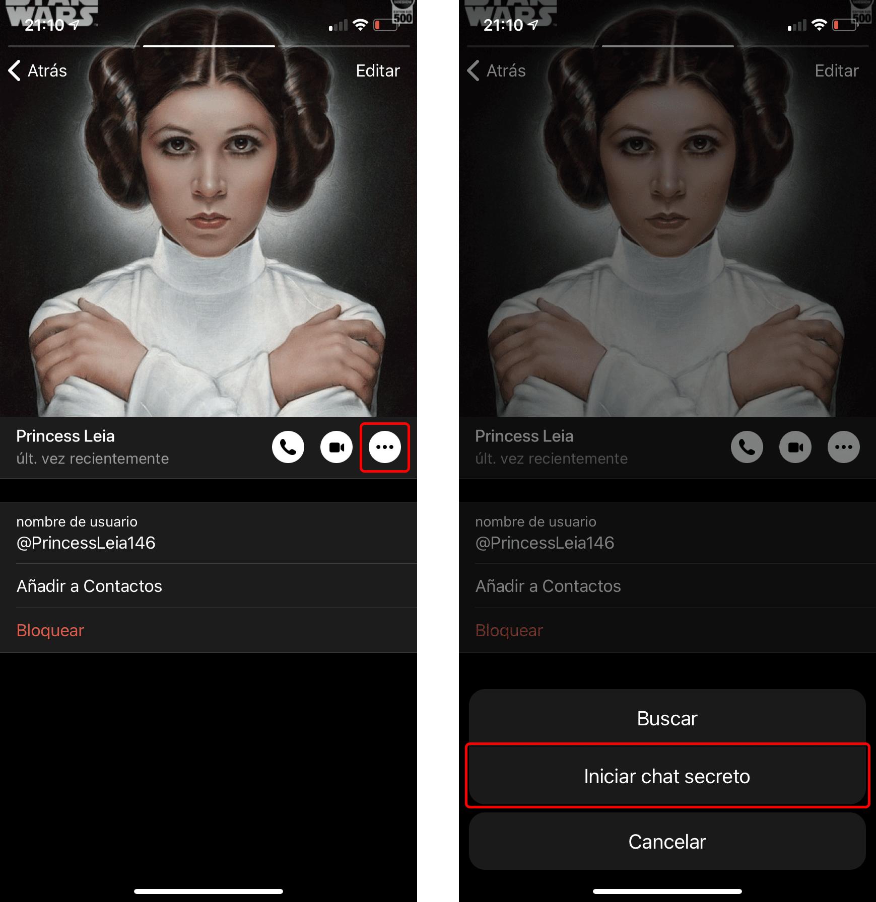 Cómo activar el cifrado de extremo a extremo en Telegram: Crear un nuevo chat secreto