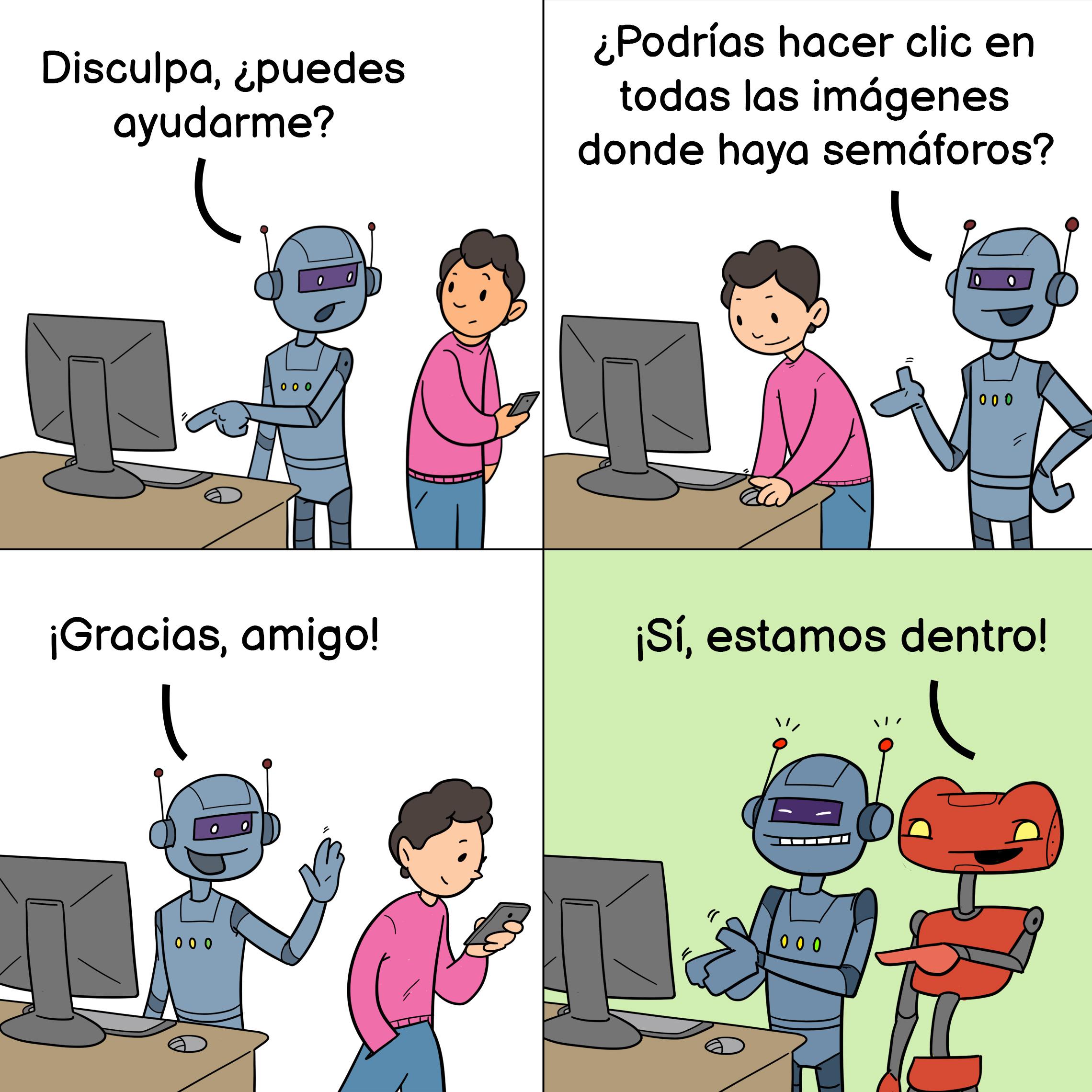 Meme de Internet sobre robots y CAPTCHA