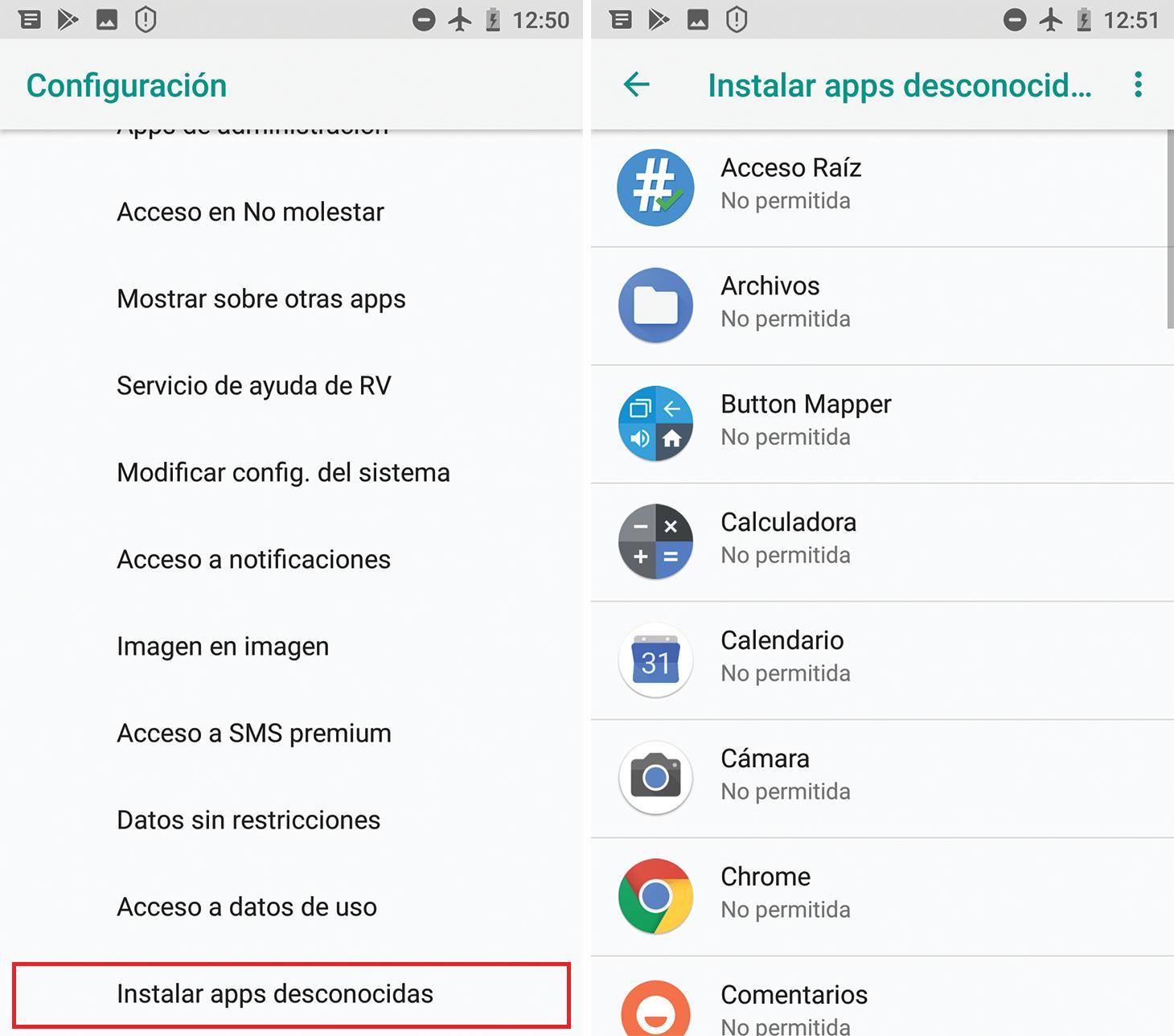 Cómo desactivar la instalación de aplicaciones desconocidas en Android 8 y versiones posteriores