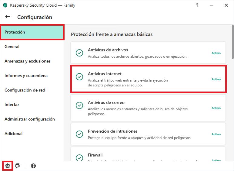 Cómo configurar Kaspersky Internet Security o Kaspersky Security Cloud