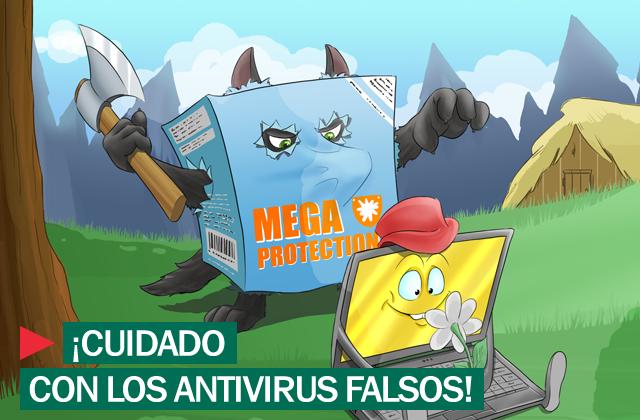 Protección frente a antivirus falsos