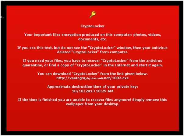 Wallpaper de CryptoLocker
